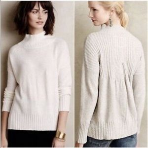 Anthropologie White Turtleneck Sweater